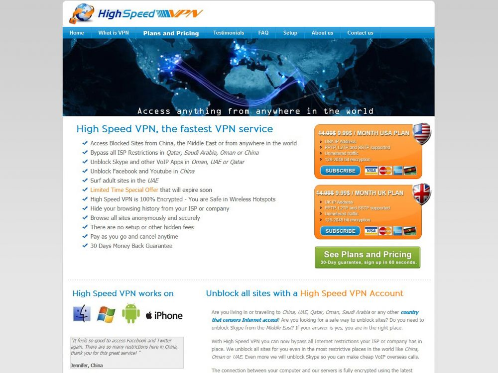 Highspeedvpn review 2018 best vpn list 2018 highspeedvpn review ccuart Gallery
